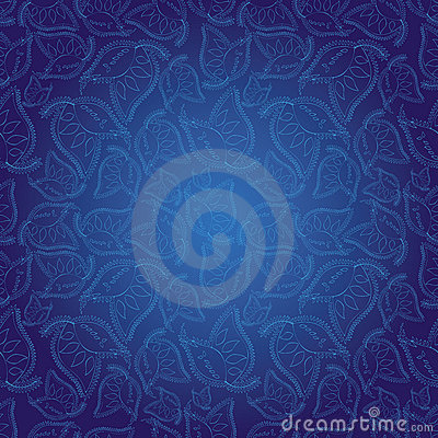 Indian style blue seamless pattern wallpaper