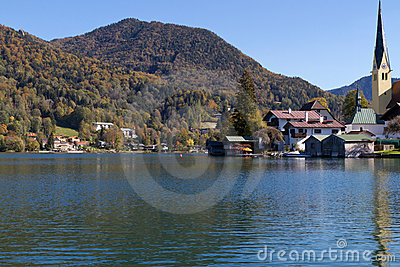 "Indian Summer on Lake ""Tegernsee"" in Bavaria"