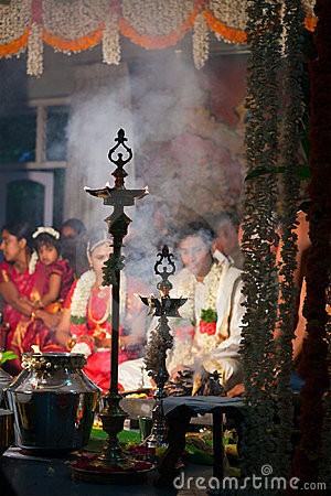 Indian (Tamil) Traditional Wedding Cerremony Editorial Stock Photo