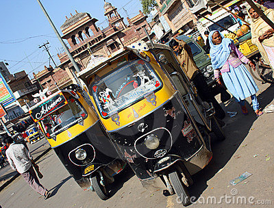 Indian taxi Editorial Stock Image