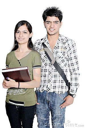 Indian teenagers ready for college.
