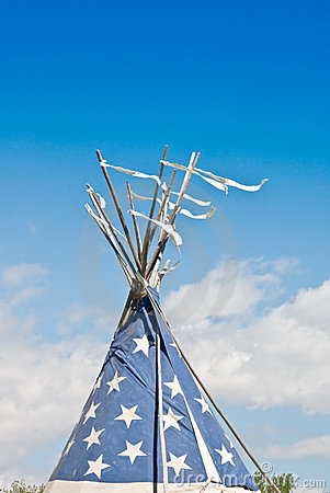 Indian Teepee in the Wind