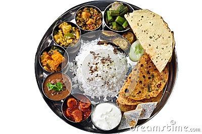 Indian Thali Stock Photography - Image: 26440162