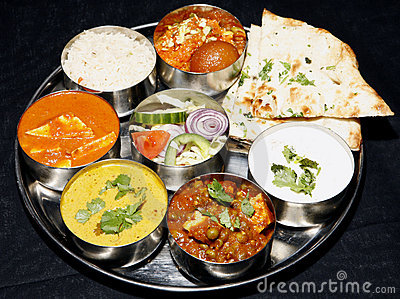 Indian thali combo with naan