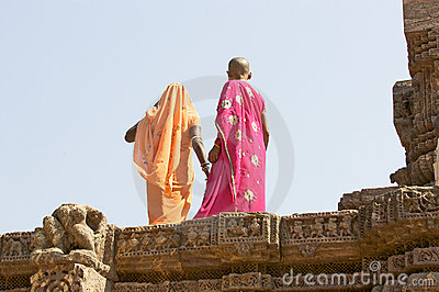 Indian tourist at the Konarak Sun Temple Editorial Photography