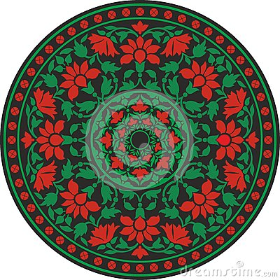 Free Indian Traditional Pattern In Color - Flower Mandala Stock Images - 31720694