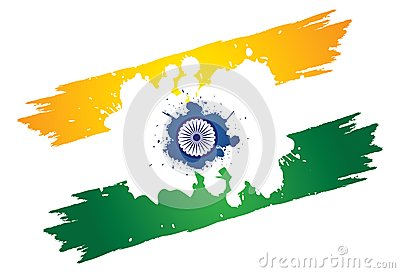 Indian tri-color national painted using colors