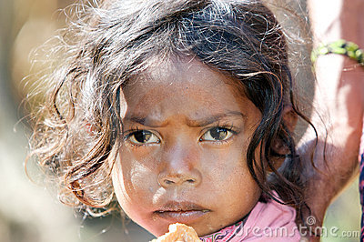 Indian tribal child Editorial Photo