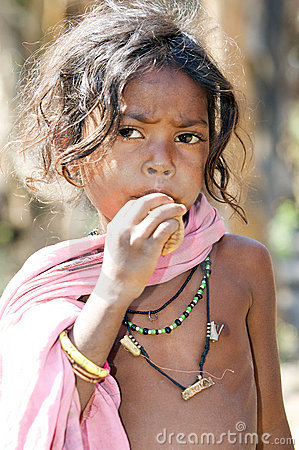 Indian tribal child Editorial Stock Image