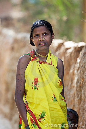 Indian tribal woman Editorial Image