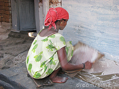Indian tribal woman in the village Editorial Stock Photo