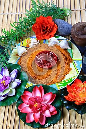 Indian turmeric ritual