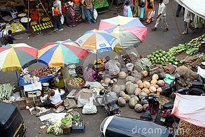 Indian Vegetable Market Editorial Photo
