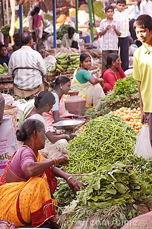 Indian vegetable sellers Editorial Stock Photo