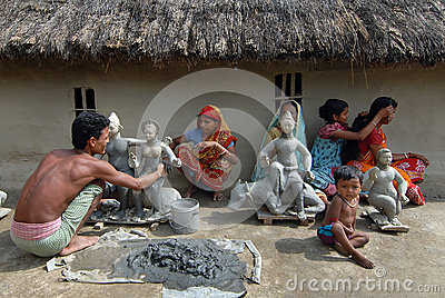 Indian Village Editorial Stock Photo