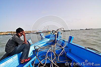 Indian village boy Editorial Photo