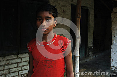 Indian village boy Editorial Photo