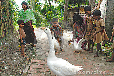 INDIAN VILLAGE CHILDREN Editorial Photography