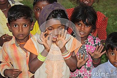 Indian Village Children Editorial Stock Photo