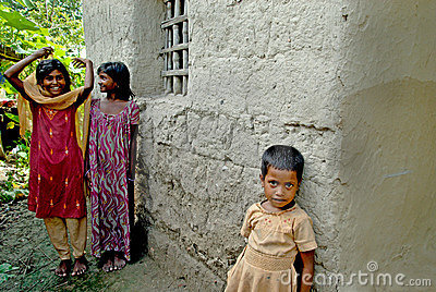 INDIAN VILLAGE GIRL. Editorial Stock Image