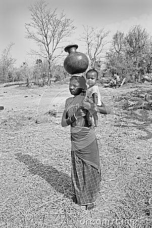 Indian village life Editorial Stock Photo
