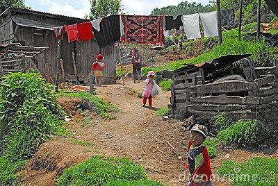 Indian Village Life. Editorial Image