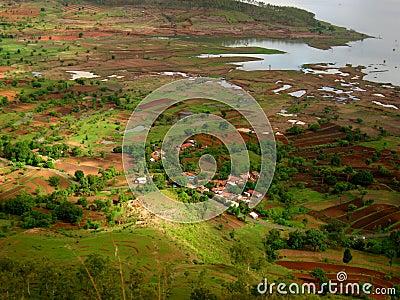 Indian village near a river
