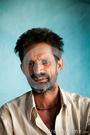 Indian villager man Editorial Photography