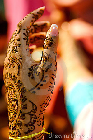 Free Indian Wedding Bride Getting Henna Applied Royalty Free Stock Photo - 5233955