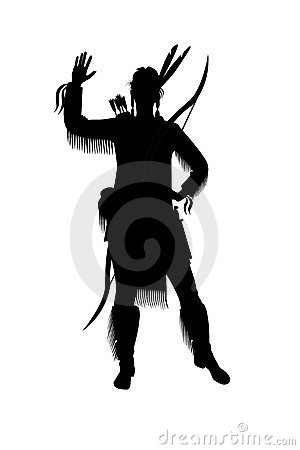 Indian woman with a bow and arrows