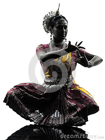 Free Indian Woman Dancer Dancing Silhouette Royalty Free Stock Photos - 32737828