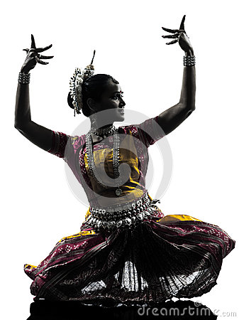 Free Indian Woman Dancer Dancing Silhouette Royalty Free Stock Image - 33721676