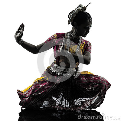 Free Indian Woman Dancer Dancing Silhouette Royalty Free Stock Photo - 33864725