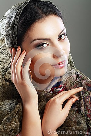 Free Indian Woman Face Royalty Free Stock Image - 53424266