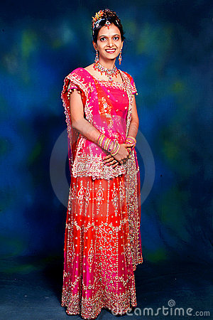 Indian woman in formal gown