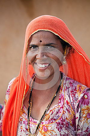 Free Indian Woman From Thar Desert In Rajasthan, India Stock Photo - 28907150
