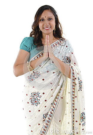 Indian woman greeting