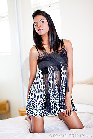 Indian woman in lingerie