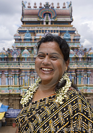 Indian woman in Madurai - India Editorial Stock Photo
