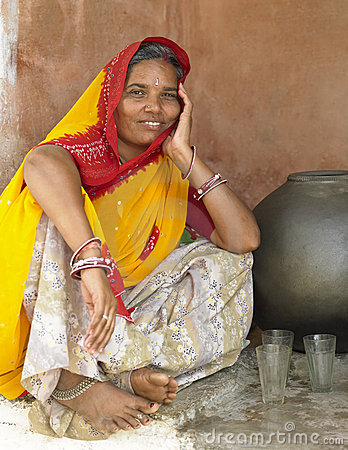 Indian woman - Rajasthan in Northern India Editorial Photography