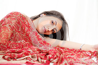 Indian woman in saree