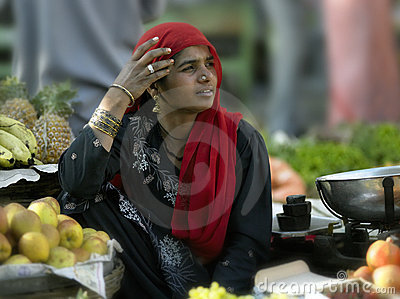 Indian woman - Udaipur - India Editorial Stock Image