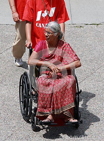 Indian Woman in Wheelchair Editorial Image