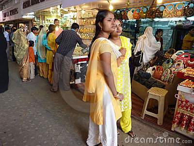 Indian women in colorful saris Editorial Stock Image