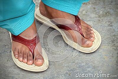 Indian women feet