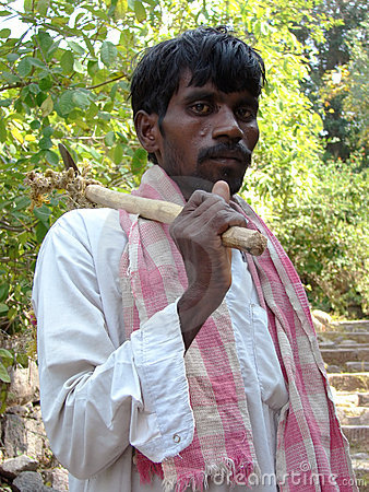 Indian woodcutter