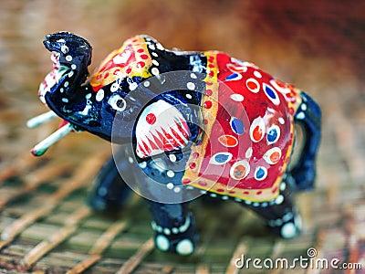 Indian wooden elephant