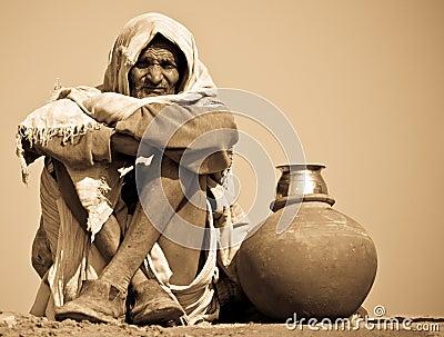 Indian Workman Editorial Stock Photo