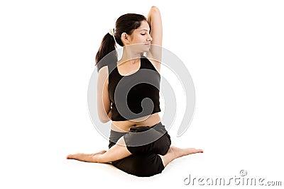 Indian Yoga Girl in black dress