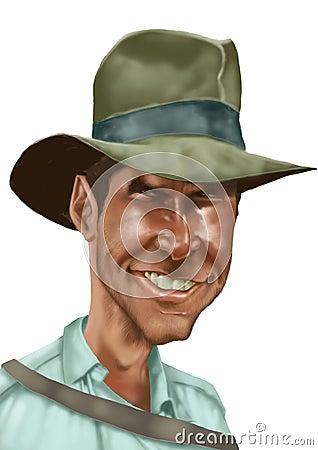 Free Indiana Jones Caricature Royalty Free Stock Photos - 4693108